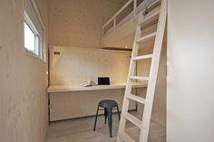 Familiehuisje Zondag aan zee op Terschelling  Slaapkamer  met werkplek | Opklapbed