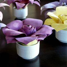 Velvet Paper Flower Tutorial   GIVEAWAY!!