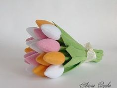 Felt tulips tutorial (it's in Russian but the pictures are pretty self explanatory):