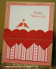 Adorable sewn Valentine's Day card!