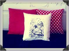 Screenprinted Alice in Wonderland, Alice with Cards Cushion handmade alternative Wedding Blacklight retro home decor on Etsy, $28.03 AUD