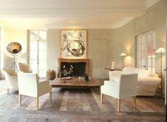 living room + fireplace