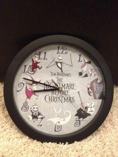 Tim Burton's the Nightmare Before Christmas Wall Clock