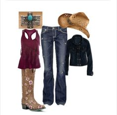 Country Swag! Love polyvore!