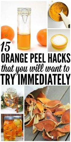 15 Orange Peel Hacks You'll Want to Try Immediately Make your own cleaners, infuse your foods with orange, or make your home smell fresh. Here are 15 orange peel uses you need to try immediately! Orange Peels Uses, Boil Orange Peels, Dried Orange Peel, Peeling An Orange, Candied Orange Peel, Dried Oranges, Lemon Benefits, Dehydrated Food, Dehydrator Recipes