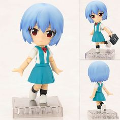 AmiAmi [Character & Hobby Shop] | Cu-poche - Rebuild of Evangelion: Rei Ayanami Posable Figure(Pre-order)