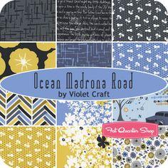 Ocean Madrona Road Fat Quarter Bundle Violet Craft for Michael Miller Fabrics - Fat Quarter Shop