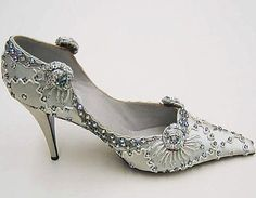 Dior Shoes - 1957 - House of Dior - Design by Roger Vivier - Silk, plastic…