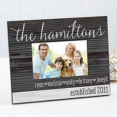 Family Love Personalized Rustic Picture Frame
