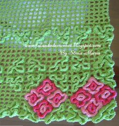 Crochet Rug Weaving Filet crochet with doubles upraised Crochet Sole, Crochet Mat, Thread Crochet, Filet Crochet, Wiggly Crochet Patterns, Crochet Motif Patterns, Stitch Patterns, Loom Knitting, Hand Knitting