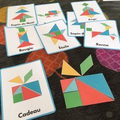 Téléchargez votre Tangram de Noël gratuitement et laissez vos enfants jouer avec. Une super façon d'apprendre tout en s'amusant.