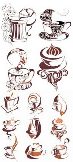 Coffee mugs / Coffee Shop Stuff - Coffee Icon - Ideas of Coffee Icon - Coffee mu Coffee Icon, Coffee Art, Coffee Cups, Coffee Drawing, Coffee Cup Tattoo, Coffee Painting, Coffee Crafts, Coffee Poster, Coffee Creamer
