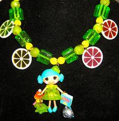 Lalaloopsy Jelly Wiggle Jiggle harajuku kawaii deco den decoden beaded necklace. $40.00, via Etsy.