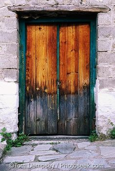 Old door, Meteora, Greece by brian_campa, via Flickr