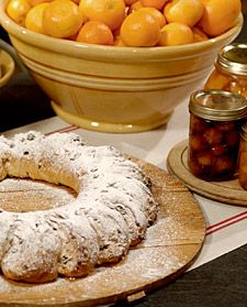 Stollen Wreath Bread with Mrs. Kostyra, Martha Stewart's mother More