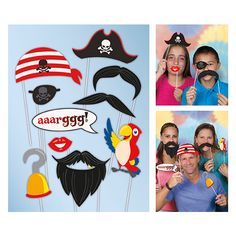 Pirate Photo Prop Accessories – Pack of 10