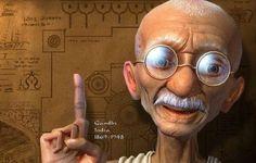 O espelho de Gandhi