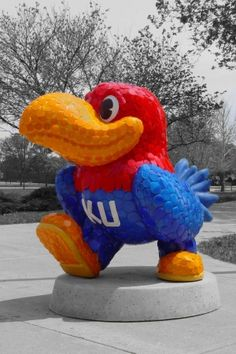 "#Jayhawks on Parade  ""Puttin' on the Glitz"" by Kathy Drungilas. (My personal favorite)"