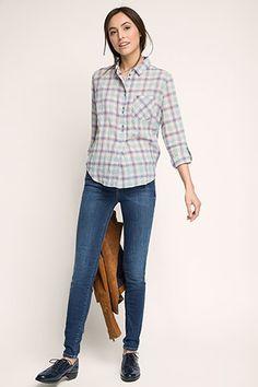 Esprit - Lichte tuniekblouse van katoen-stretch kopen in de online shop