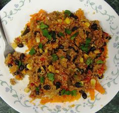 Debbi Does Dinner... Healthy & Low Calorie: Quinoa Chili Skillet