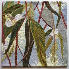 Ruth de Vos - celebrating a wonderful world in stitch Thread Painting, Fabric Painting, Fabric Art, Textile Fiber Art, Textile Artists, Hand Applique, Applique Quilts, Voss, Landscape Art Quilts