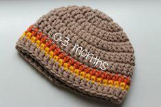 Crochet Infant  0-3 months Hat Baby Beanie by ZawiHatsAndMore