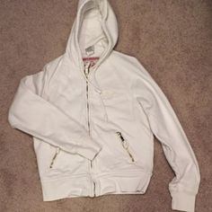True Religion zip up Worn once. Great condition. Heavyweight and warm. Pockets have zippers True Religion Sweaters