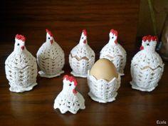 Handmade by Ecola & Dana Art - Wielkanocne kurki Easter Crochet Patterns, Amigurumi Patterns, Crochet Motif, Free Crochet, Crochet Chicken, Diy Ostern, Crochet Decoration, Crochet Kitchen, Crochet Animals