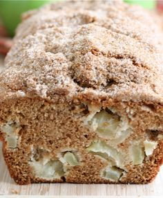 Apple Cinnamon Bread Recipe Cinnamon quick bread with chunks of fresh apples. LOVE this bread!