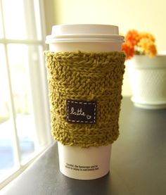 Latte Love On-the-Go Cup Cozy. $16.00, via Etsy.
