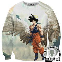Angel Goku Hoodie - Dragon Ball Z Hoodies Full Printed Clothing – Hoodie Time Goku Dragon, Manga Dragon, Dragon Ball Z Shirt, Dragon Ball Gt, Goku Angel, Fan Art, Majin, Akira, Anime Art