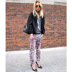 Style by Kling- floral pants and heels