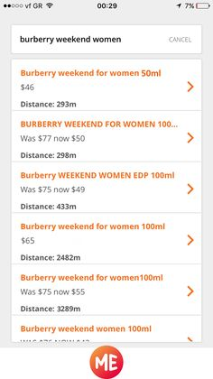 See distance and price or short description of the offer in search results. Tap the offer you are interested in to see more about it.
