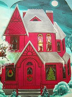 """""""Night before Christmas"""" illustrated by Florence Sarah Winship by bewitchedmagic@flickr"""