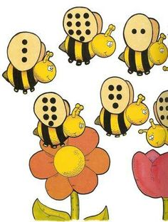 Counting bees file folder game 3/3