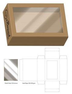 Box Packaging Die Cut Template Design - Her Crochet Diy Gift Box Template, Box Packaging Templates, Paper Box Template, Box Template Printable, Origami Templates, Box Templates, Packaging Boxes, Box Creative, Cardboard Box Crafts