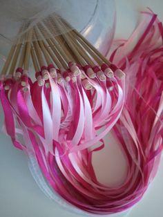 Vente de baguette de rubans de mariage pour haie d'honneur mariage #rubans #mariage http://www.alittlemarket.com/boutique/baguetteruban
