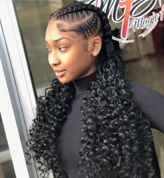 Trendy braids with weave hairstyles black women curly haircuts 41 Ideas Braids For Kids, Girls Braids, 2 Feed In Braids, Kid Braids, Braids Ideas, Box Braids Hairstyles, Hairstyles 2016, Hairstyles Pictures, Summer Hairstyles
