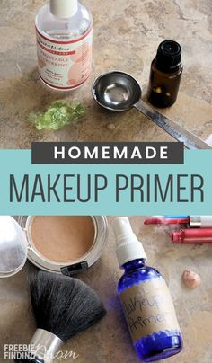 "How would you like your makeup to last longer and look better on your skin by minimizing fine lines, wrinkles and pores? All you need is a handful of ingredients and a few minutes to whip up this Homemade Makeup Primer. If you are wondering ""What is makeup primer?"" it basically preps your face for the application of makeup, and there's no need to buy expensive makeup face primers when you can use this makeup primer for oily skin which is actually great for all skin types."