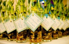 Wedding Gifts For Guests Natural bamboo wedding guest gift favors - Plant Wedding Favors, Wedding Favors Cheap, Beach Wedding Favors, Cute Wedding Ideas, Wedding Inspiration, Beach Weddings, Diy Wedding, Laos Wedding, Wedding Reception