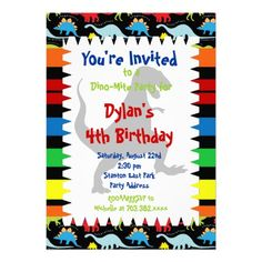 417 best dinosaur birthday party invitations images on pinterest in