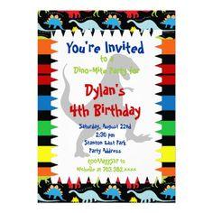 T Rex Dinosaur Birthday Party Invitations SOLD on Zazzle