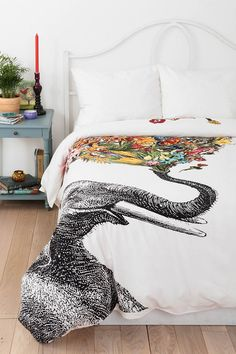 RococcoLA Happy Elephant Duvet Cover... for you paige!