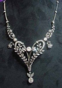Vintage Georgian piece, diamonds set in Silver, which was a French method of the era.