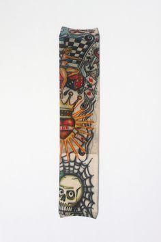 1 개 W08 임시 가짜 문신 예술 소매 100% 나일론 탄성 가짜 임시 문신 슬리브