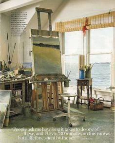 MY dream house! brightly the universe: artist anne packard in coastal living magazine