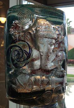 Ganesh bookend I, Glass Sculpture, Susan Gott