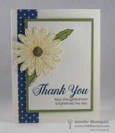Daisy Delight swap card by Jennifer Blomquist