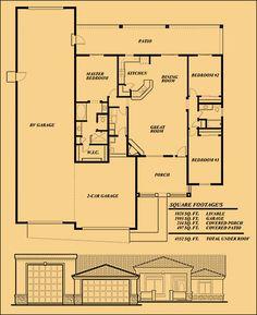 RV garage Home Floorplan. We love it!   Floorplans   Pinterest   Rv ...