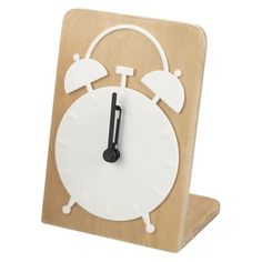 Bentwood Alarm Clock White   Comes in black and an aqua, reddish/pink, and others ($9.99 Target)